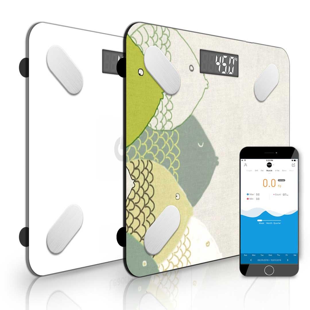 SOGA 2x Design Wireless Bluetooth Digital Body Fat Scale Bathroom Health Analyzer Weight