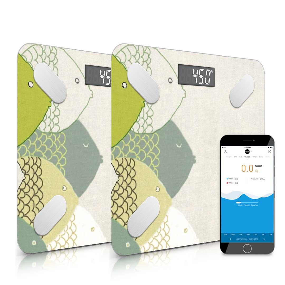 SOGA 2x Wireless Bluetooth Digital Body Fat Scale Bathroom Health Analyzer Weight
