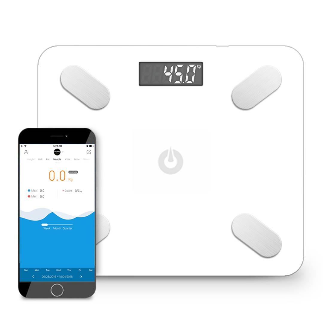 SOGA Wireless Bluetooth Digital Body Fat Scale Bathroom Health Analyzer Weight White