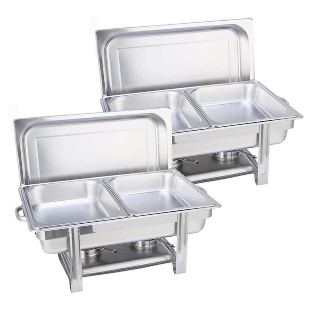 SOGA 2X Double Tray Stainless Steel Chafing Catering Dish Food Warmer