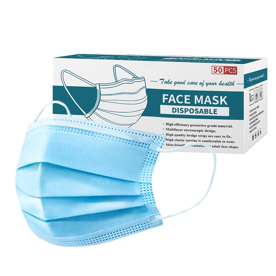 60 Pcs Anti Dust Filter Disposable Protective Sanitary Face Mask