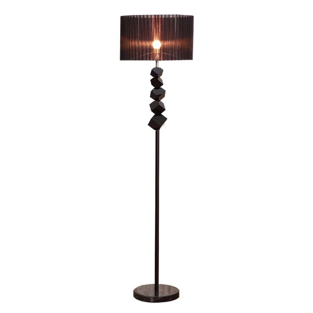 SOGA Floor Lamp Metal Base Standing Light with Dark Shade Tall Lamp