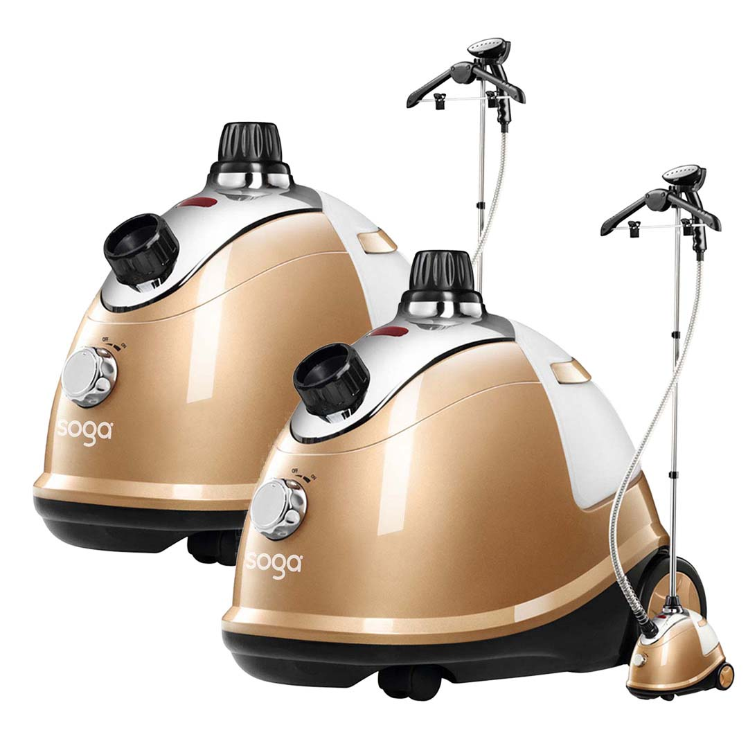 SOGA 2X Professional Commercial Garment Steamer Portable Cleaner Steam Iron Gold