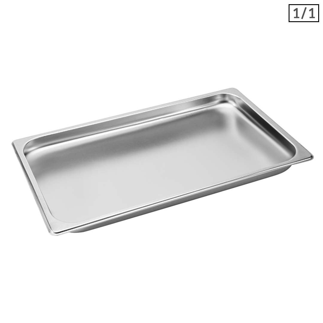 SOGA Gastronorm GN Pan Full Size 1/1 GN Pan 2cm Deep Stainless Steel Tray