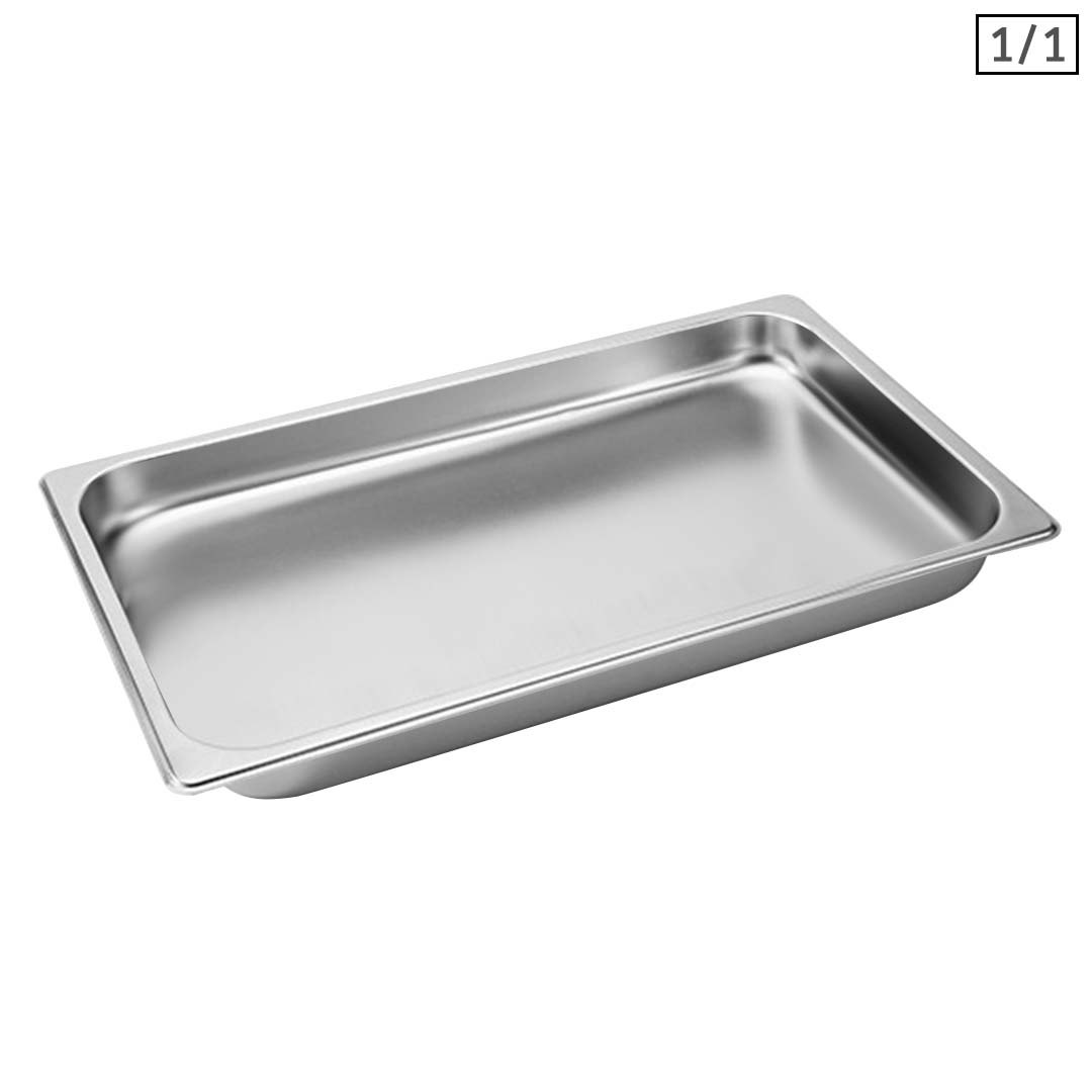 SOGA Gastronorm GN Pan Full Size 1/1 GN Pan 4cm Deep Stainless Steel Tray