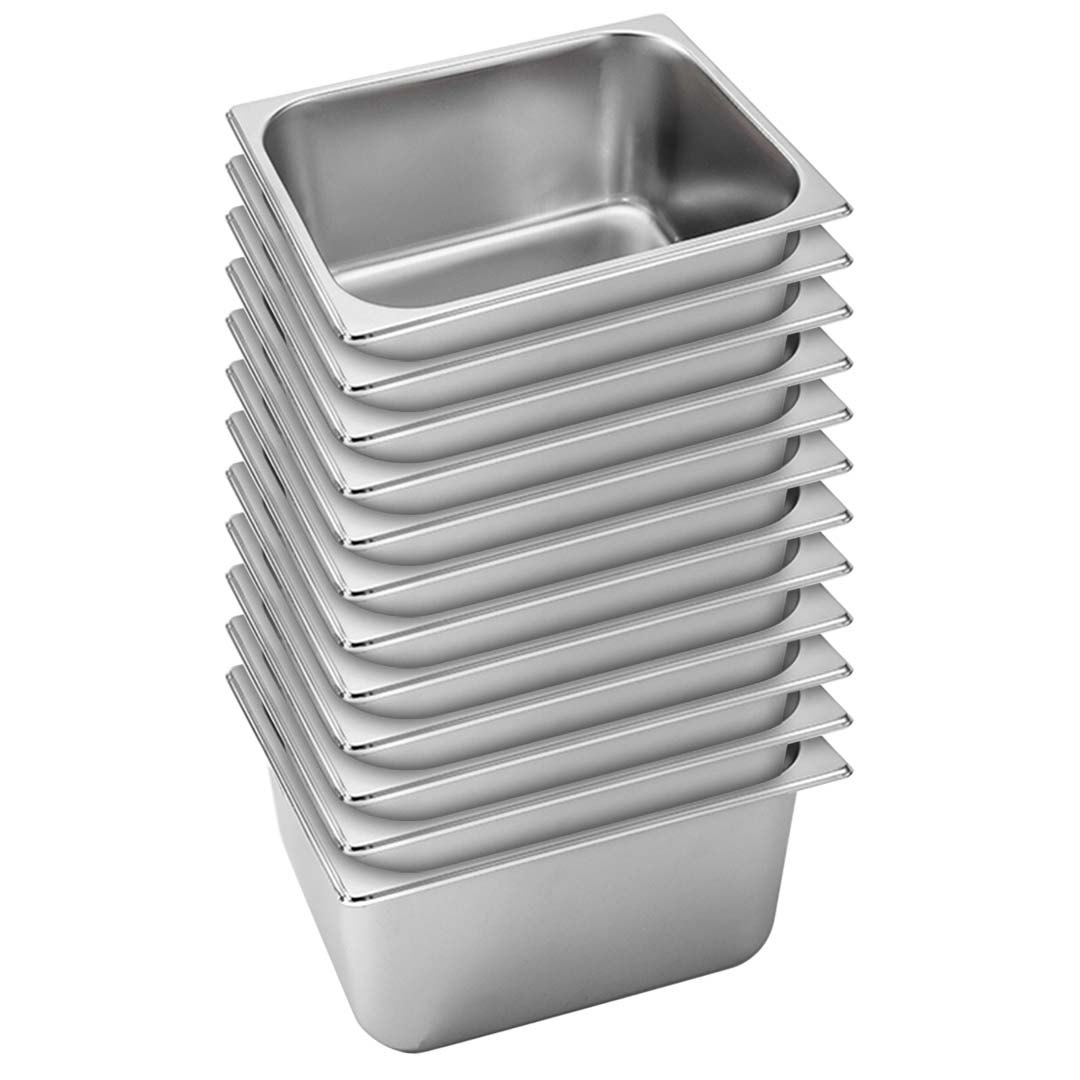 SOGA 12X Gastronorm GN Pan Full Size 1/2 GN Pan 20cm Deep Stainless Steel Tray