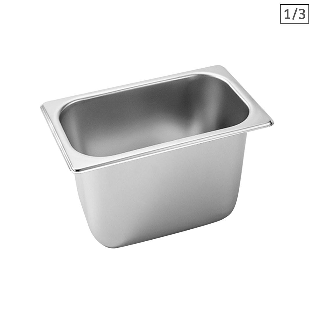 SOGA Gastronorm GN Pan Full Size 1/3 GN Pan 20cm Deep Stainless Steel Tray