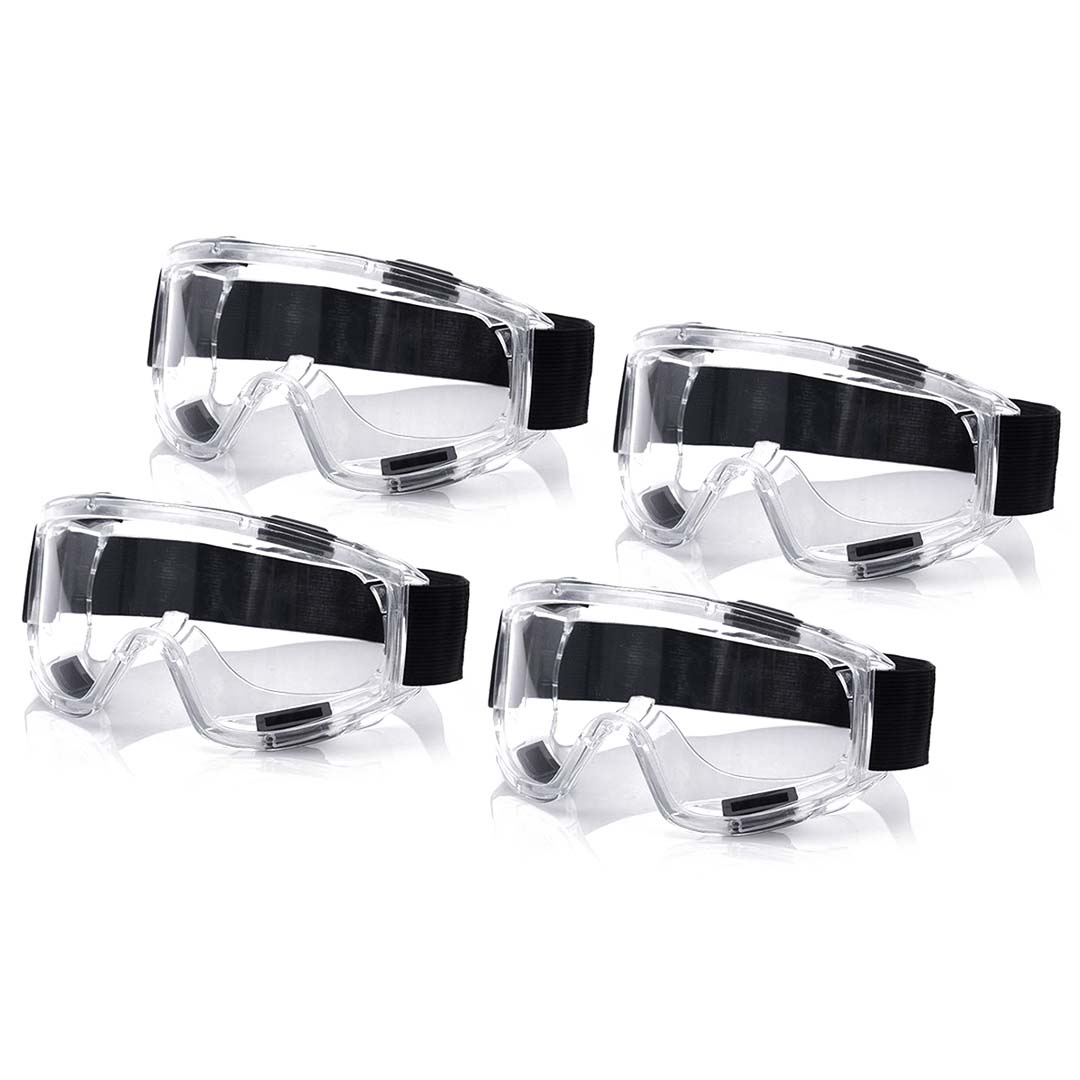 4X Clear Protective Eye Glasses Safety Windproof Lab Goggles Eyewear