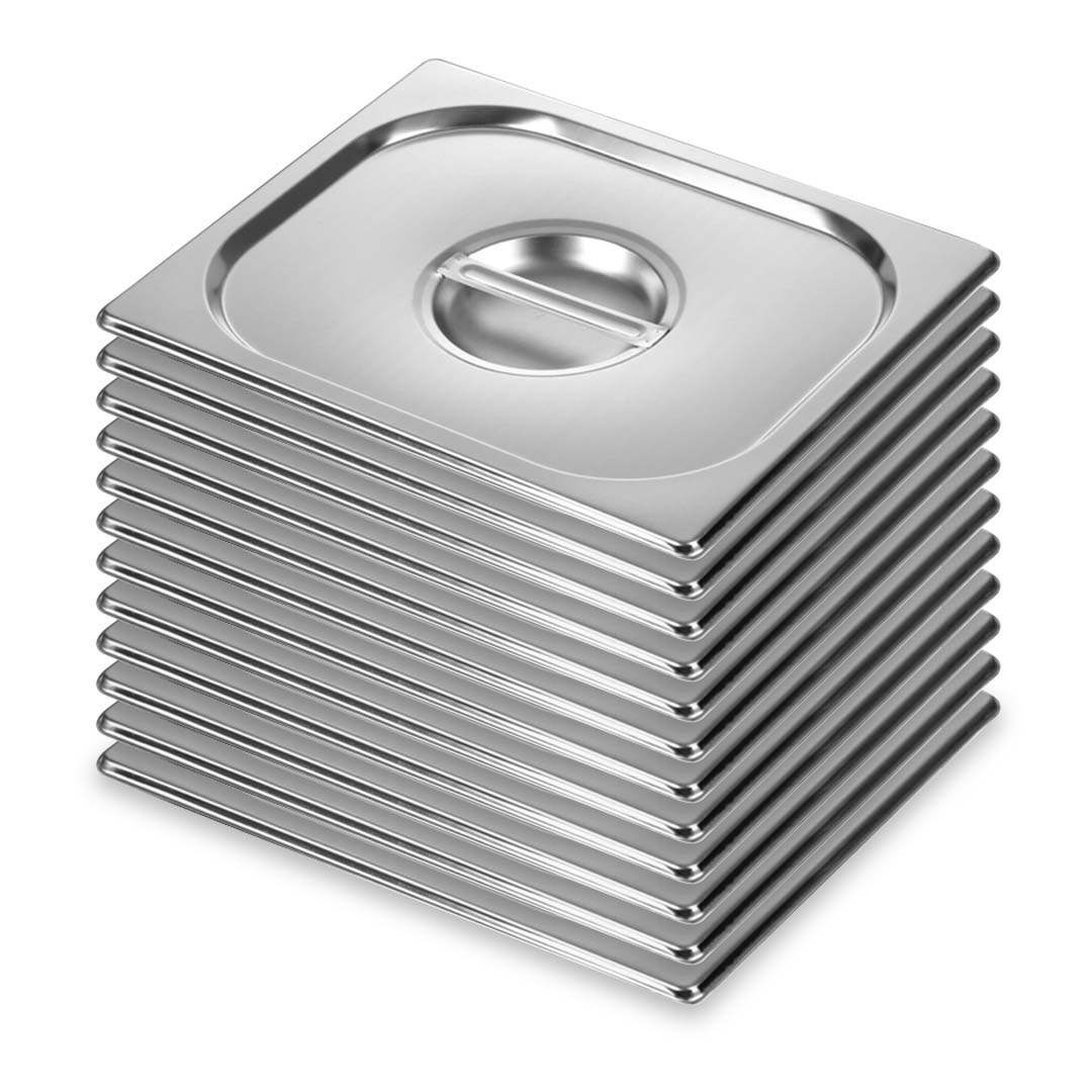 SOGA 12X Gastronorm GN Pan Lid Full Size 1/2 Stainless Steel Tray Top Cover