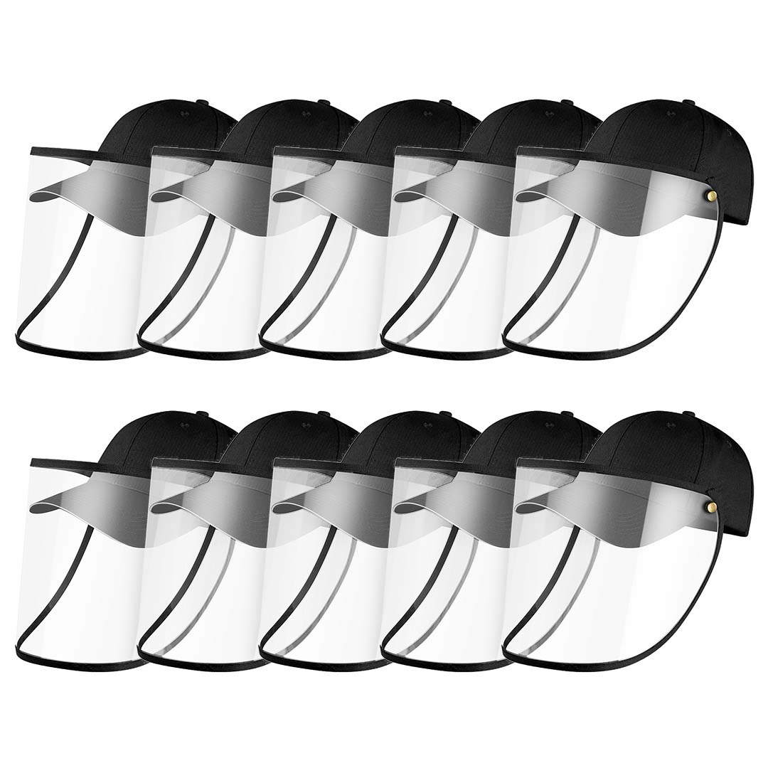 10X Outdoor Protection Hat Anti-Fog Pollution Dust Protective Cap Full Face HD Shield Cover Adult Black
