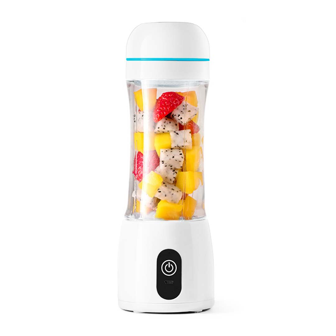 SOGA 380ml Portable Mini USB Rechargeable Handheld Fruit Mixer Juicer White