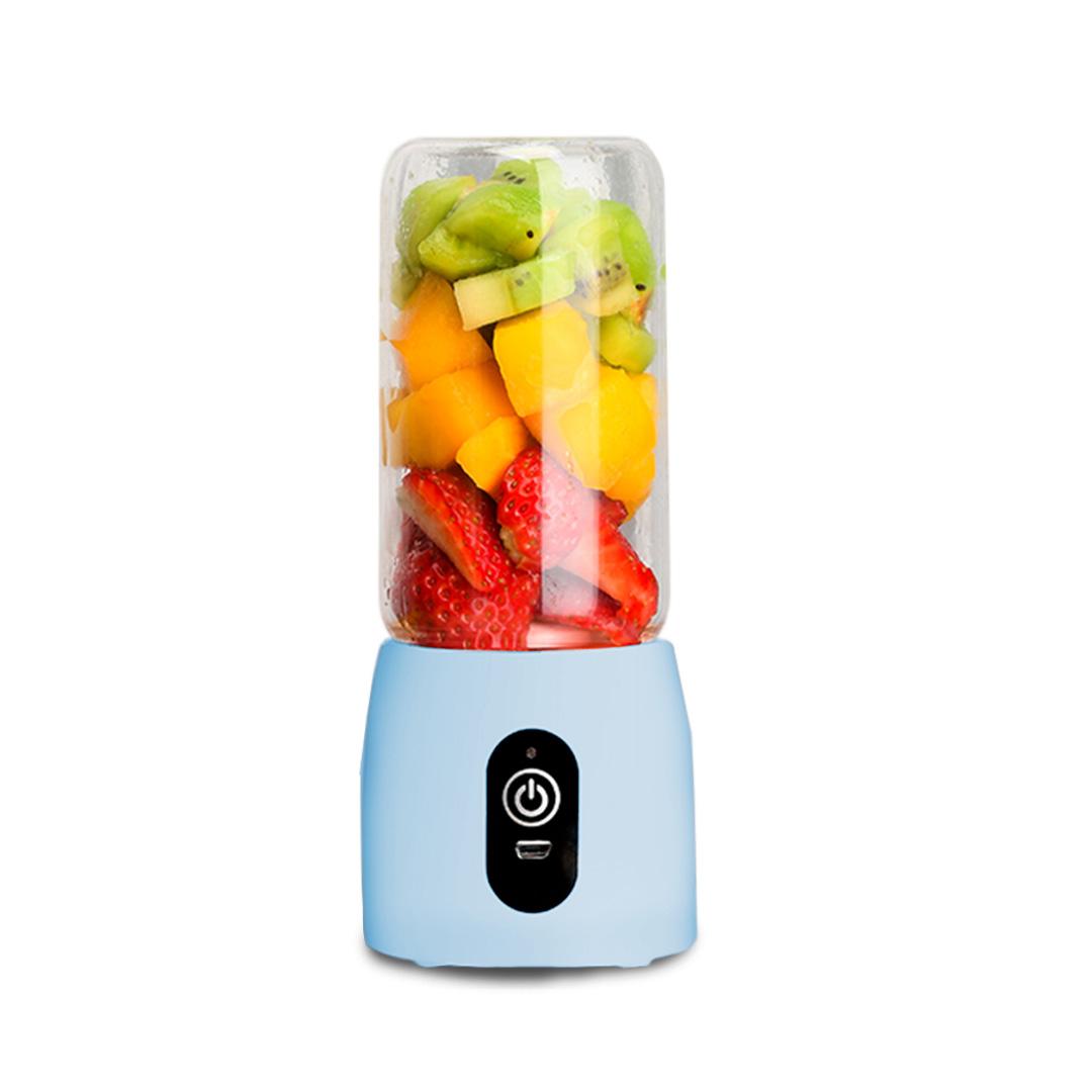 SOGA Portable Mini USB Rechargeable Handheld Juice Extractor Fruit Mixer Juicer Blue