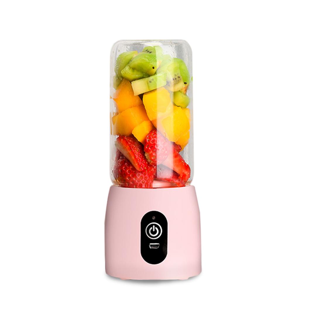 SOGA Portable Mini USB Rechargeable Handheld Juice Extractor Fruit Mixer Juicer Pink