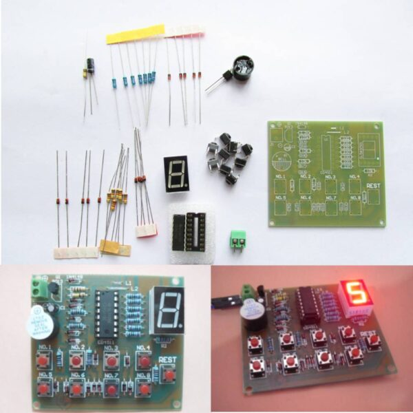 CD4511 8 Channel Digital Display Answerer DIY Kit Electronic Skill Competition Teaching and Training DIY Part