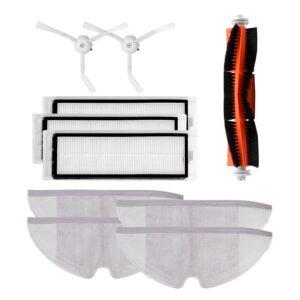 10pcs/lot New Main Brush Hepa Filter Side Brush Mop Cloths Kit for Xiaomi mijia Robot Vacuum Cleaner Roborock S50 S51 S55 Roborock 2 Xiaowa Non-original