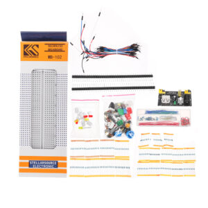 Generic Parts Package Kit + 3.3V/5V Power Module+MB-102 830 Points Breadboard +65 Flexible Cables+ Jumper Wire Box Without Case