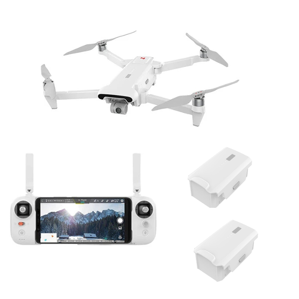 FIMI X8 SE 2020 8KM FPV With 3-axis Gimbal 4K Camera GPS RC Drone Quadcopter RTF Two Batteries Version