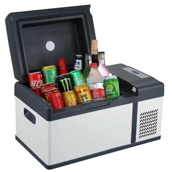 Tinderala 20L 12/24V Portable Mini Car Refrigerator Freezer