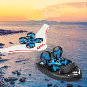 JJRC H36S 2.4G 4 In1 Flying Drone Land Driving Boat Glidering Detachable Quadcopter RTF