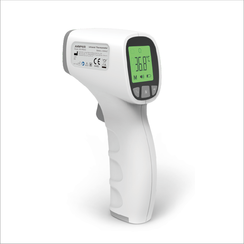 JUMPER FR-202 NON-CONTACT INFRARED THERMOMETER HOUSE-HOLD LEVEL LITE BLUE COLOR