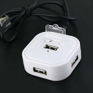 Hi-Speed USB 2.0 4 Port Hub White