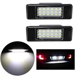 2 x LED SMD License Plate Light For Peugeot 106 207 307 308 406 407 508 White 1