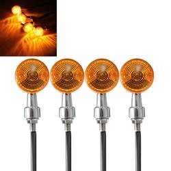 4pcs 12V Motorcycle Turn Brake Signal Lights Bulb Lamp Amber Indicators 1