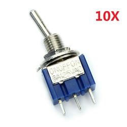 Wendao MTS-103 AC 125V 6A 3 Pins Toggle rocker Switch ON/OFF/ON SPDT 10pcs 1