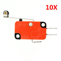 Wendao V-156-1C25 Micro Switch Long Hinge Roller Lever Stroke Limit Switches 10pcs 1