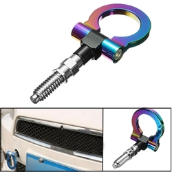 Car Front Rear Bumper Screw-on Tow Hook Racing Style Aluminum for BMW Mitsubish 1