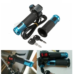 24V 36V 48V Scooter EBike Electric Throttle Grip Handlebar LED Digital Meter 1