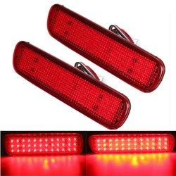 Pair LED Brake Tail Light Rear Bumper Reflector Fog Light For Toyota Land Cruiser Lexus LX470 1