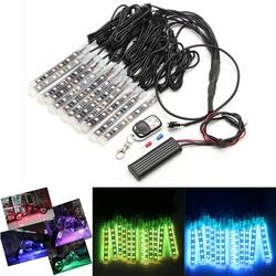 12x LED Remote Wireless Neon Light Strips Kit For Car Truck Lorry Boat Motor Bike 1