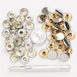 22pcs 15mm Metal Canvas Buckle Quick Snap Fastener Buttons Kits 1