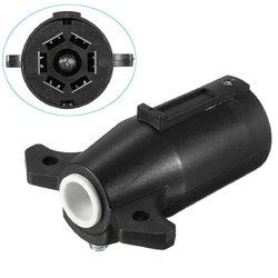 Black Round Trailer Connector 7 Poles RV Male Light Plug 7 Way Connector 1