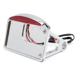 Motorcycle License Plate LED Tail Light Horizontal SidE-mount Bracket For Harley 1