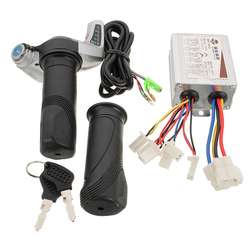 36V 500W Brushed Controller With Throttle Twist Grips 7/8 inch 22mm For Electric Bike Scooter 1
