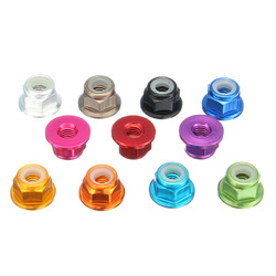 "Suleve?""? M3AN7 10Pcs M3 Flange Nylon Nut Self-locking Nut Multi-color Aluminum Alloy 1"
