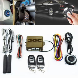 Car Alarm System PKE Keyless Entry Push Button Engine Ignition Start Remote 1