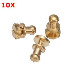 10Pcs Brass Monk Head Nipple Nail Belt Screw Belt Luggage Accessories 1