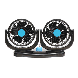 Dual Head 12V Car Fan Portable Vehicle Truck 360 Degree Rotatable Auto Cooling Cooler 1