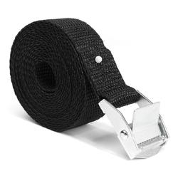 2.5m x 25mm Black Nylon Cargo Tie Down Luggage Cargo Lashing Strap Cam Buckle 1