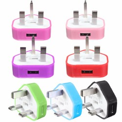 UK USB Plug Charger Mains Wall Home Adapter For Samsung Android Phone Tablets 1