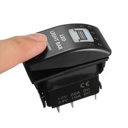 20A 12V LED Toggle Switch On/Off Rocker Switch LED Light Bar Switch 5