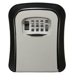 Wall Mount Key Lock Storage Box Security Keyed Door Lock with 4 Digit Combination Password 1
