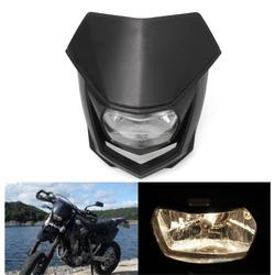 12V 8000lm Motorcycle Head Lamp W/ High Low Beam Enduro Dirt Bike Headlight Universal 1