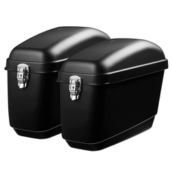 Pair 30L Side Luggage Case Hard Trunk Saddle Bags Motorcycle Panniers Box Cruiser Universal 1