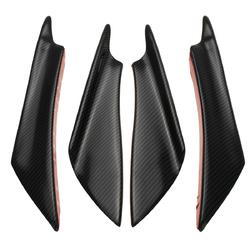 4pcs Universal Car Body Spoiler Front Bumper Spoiler Canards Lip Splitters Trim 1