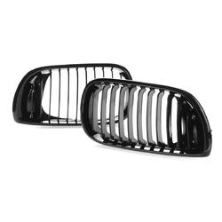 Gloss Black Kidney Front Grille For BMW E46 3Series 4-DOOR 4D 02-05 LCI Facelift 1