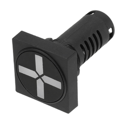 22mm Square-shaped Indicator Isolation Switch Position Two-color Indicator Light 1